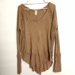 Free People We the Free Waffle Knit Thermal Shirt